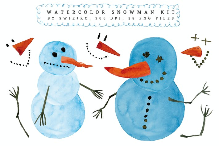 Thumbnail for Watercolor Snowman kit