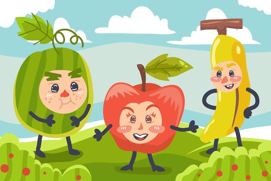 Fruits Kids Illustration