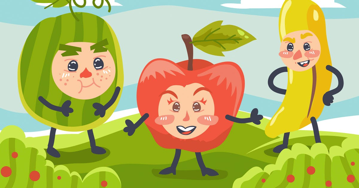 Download Fruits Kids Illustration by Slidehack
