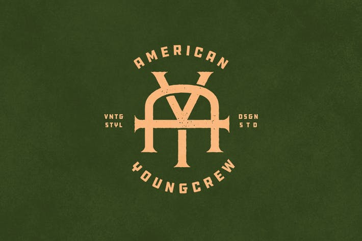 Cover Image For AY Vintage Monogram Logo