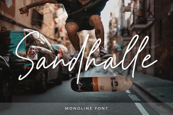 Thumbnail for Sandhalle - Modern Signature Font