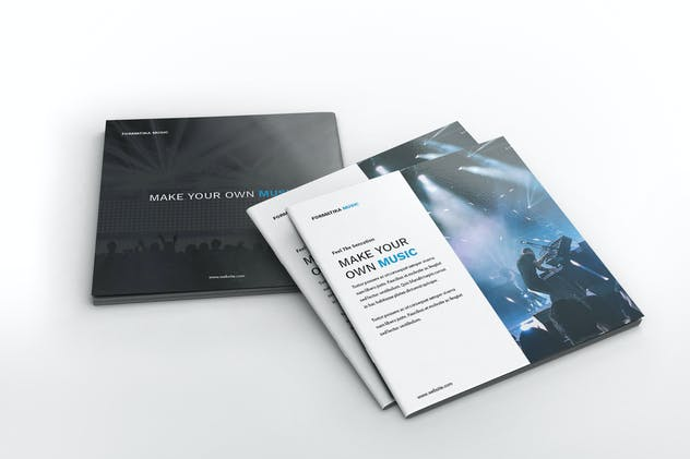 Music Square Brochure Template