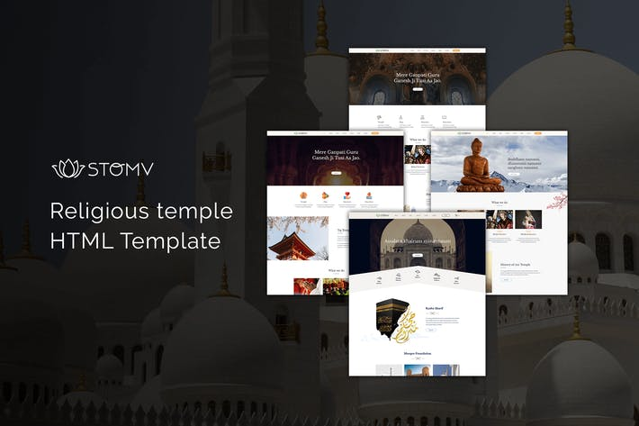 Cover Image For Stomv - Religious temple HTML Template