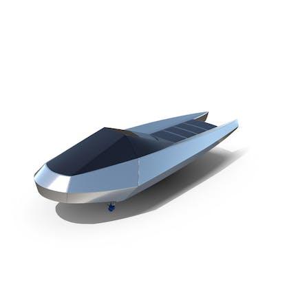 Futuristisches Motorboot