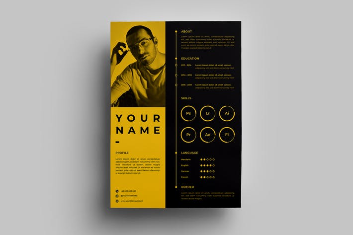 Thumbnail for Resume Design Templates.02