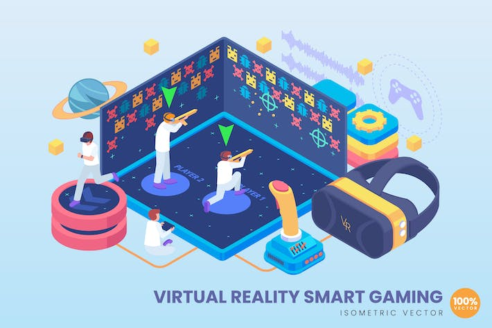 Thumbnail for Isometric Virtual Reality Smart Gaming Concept