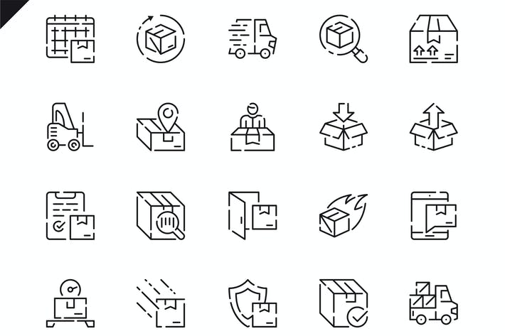 Thumbnail for Simple Set Shipping Line Icons