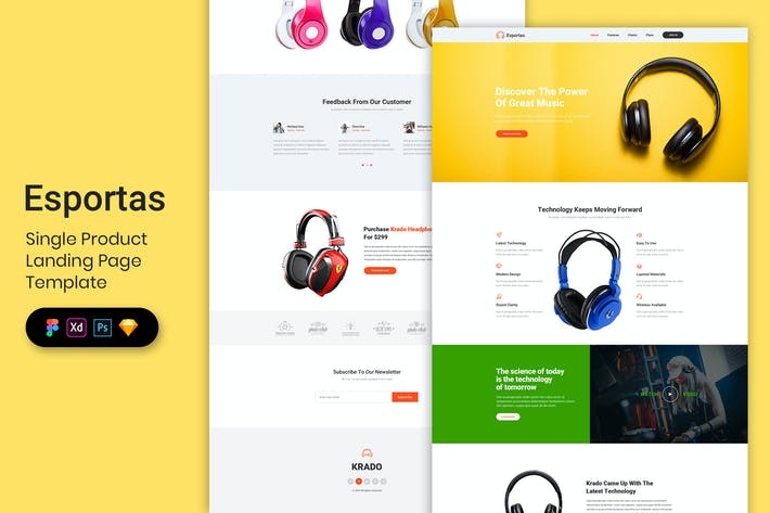 Thumbnail for Single Product - Landing Page Template