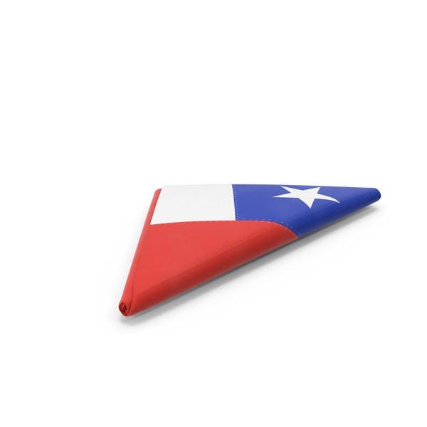 Flag Folded Triangle Chile