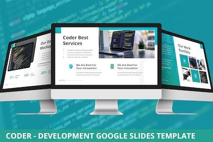Coder - Development Google Slides Template