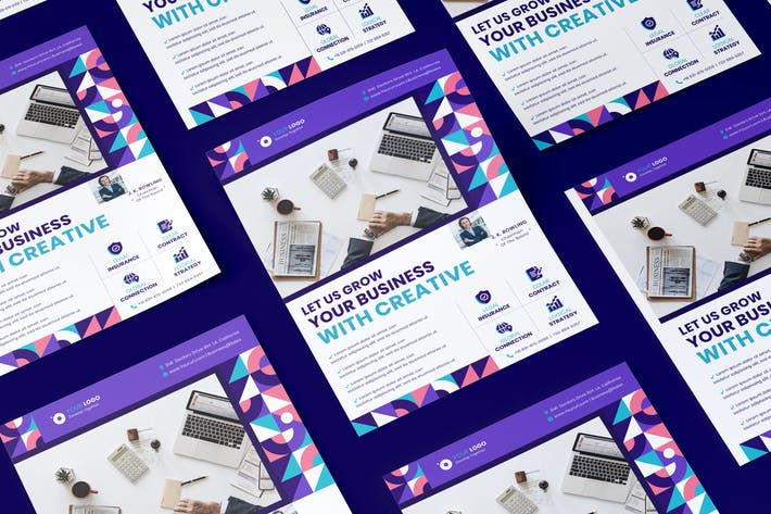 Thumbnail for Unternehmens-, Business Flyer PSD-Vorlage