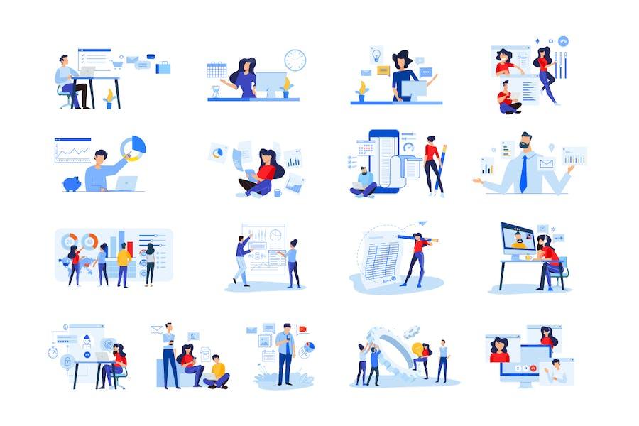 Paquete de Ilustraciones de personas de diseño plano