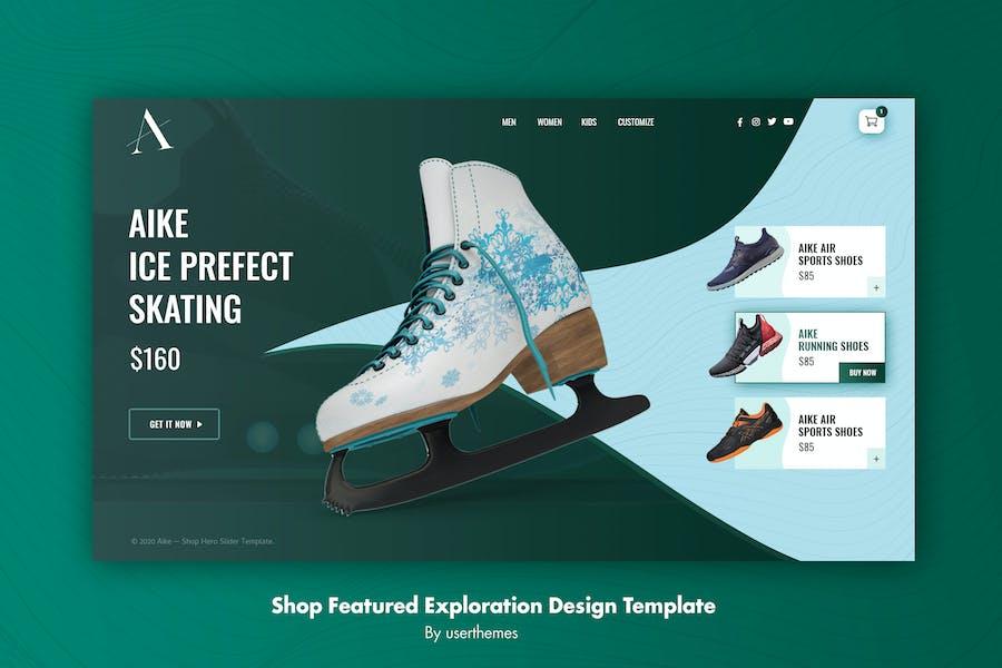 AIKE - Shop Website Featured Exploration Template