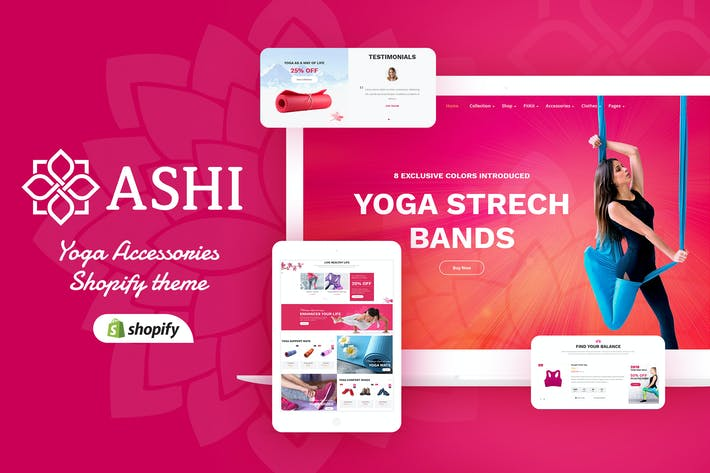 Thumbnail for Ashi | Yoga, Fitness Shopify Thème