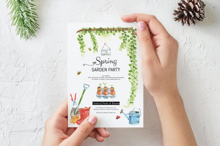 Thumbnail for Spring Gardening Party Invitation