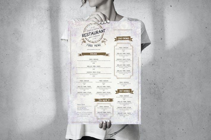 Thumbnail for Food Menu Design - Single Page - Big A3 Poster