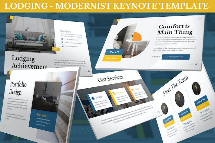 Thumbnail for Lodging -  Modernist Keynote Template