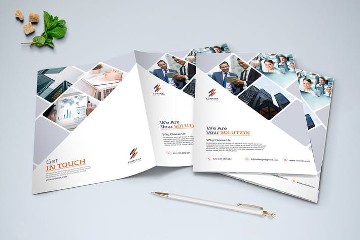 Thumbnail for Minimalist Business Brochure Bi-Fold