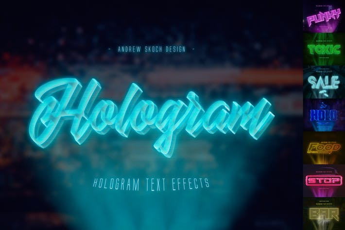 Thumbnail for Hologram Text Effects