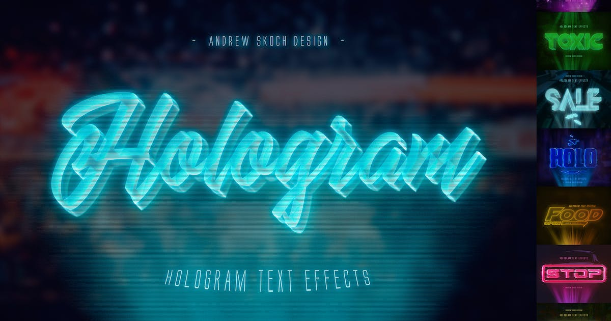Download Hologram Text Effects by Sko4