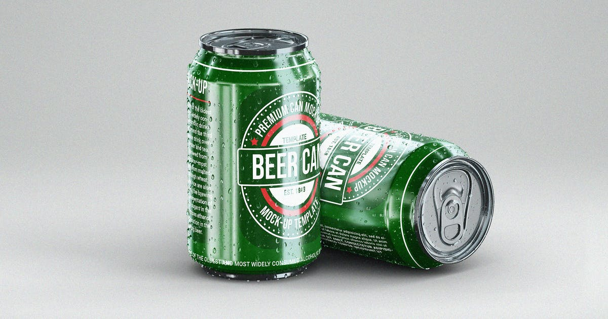 Download Small Beer Can Mock-Up Template by EightonesixStudios