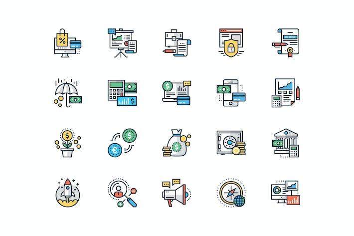 Cover Image For 20 Business and Finance icons