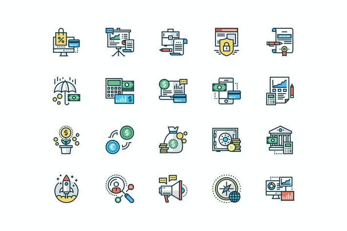 Thumbnail for 20 Business and Finance icons