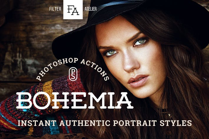 Thumbnail for Bohemia Photoshop Actions