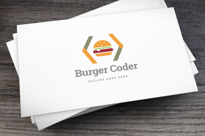 Cover Image For Burger Coder Logo Template