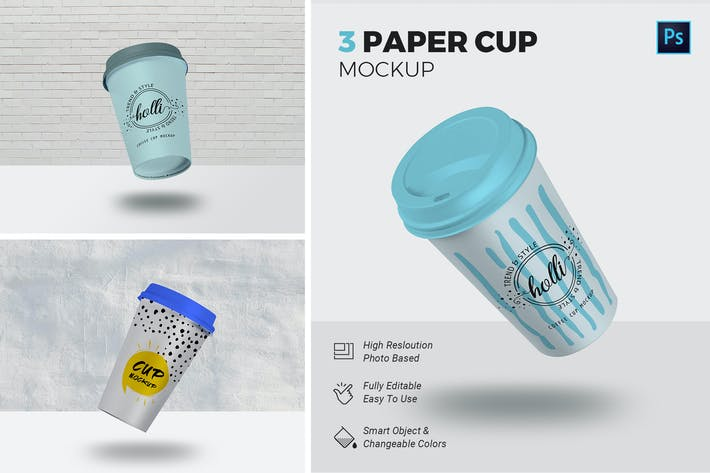 Thumbnail for Paper Cup Mockup