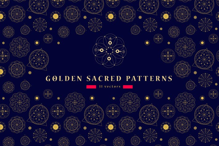 Cover Image For 11 Sacred seamless patterns