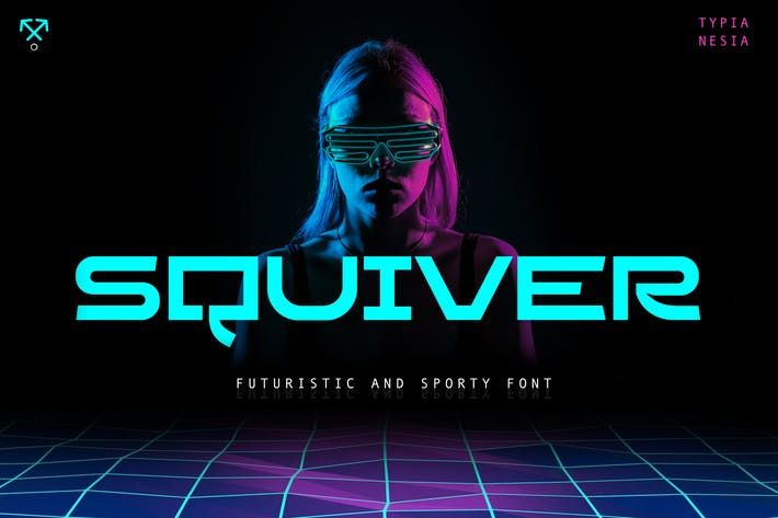 Thumbnail for Squiver - Futuristic and Sporty Sans