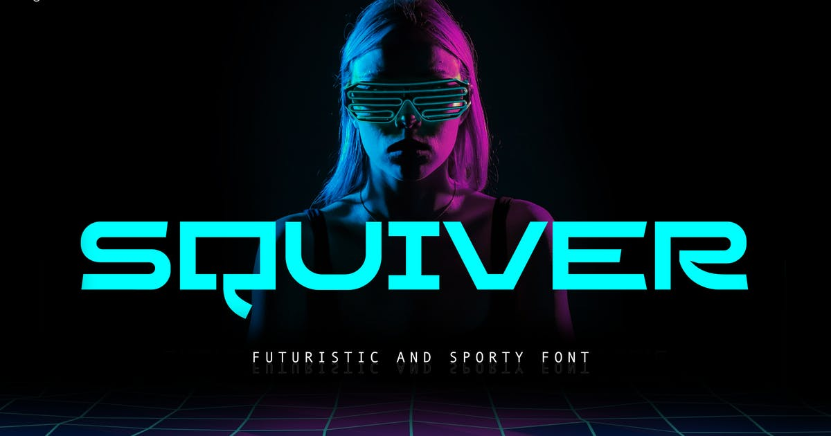 Download Squiver - Futuristic and Sporty Sans by yipianesia