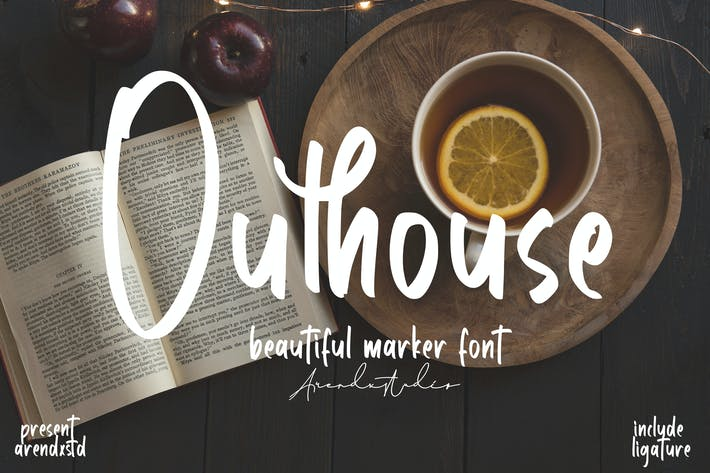 Outhouse - Marker Font