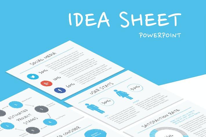 Thumbnail for Idea Sheet PowerPoint Template