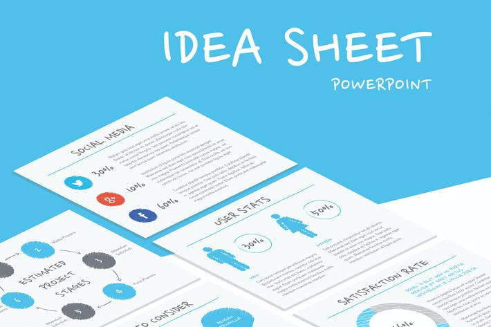 idea sheet powerpoint template by jumsoft on envato elements
