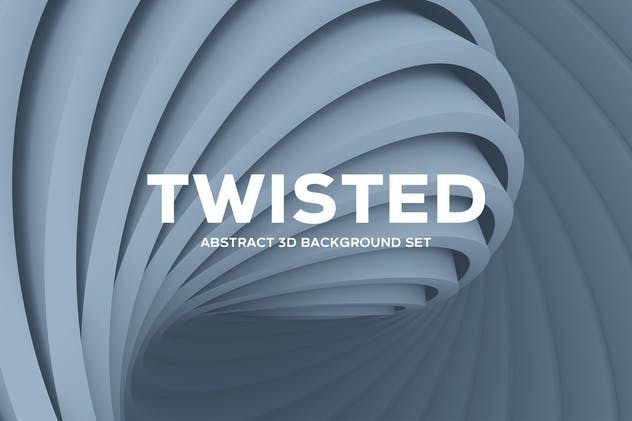 Abstract Twisted 3D Background Set