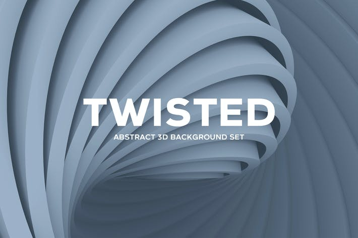 Thumbnail for Abstract Twisted 3D Background Set