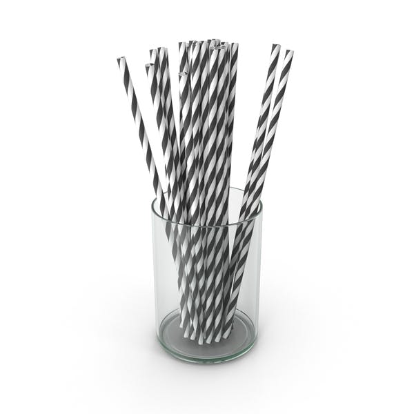 Black Drinking Straws