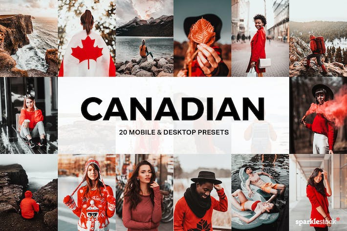 Thumbnail for 20 Canadian Lightroom Presets and LUTs