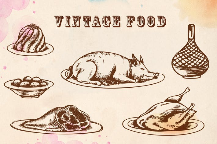 Thumbnail for Vintage Hand Drawn Food