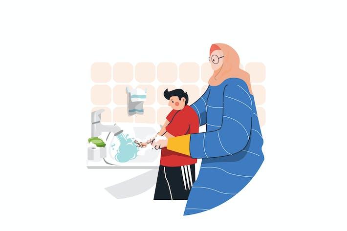Thumbnail for Virus Prevention Washing Hands