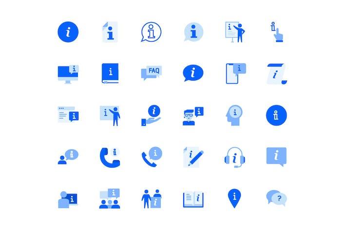 Info und Support Icons Set