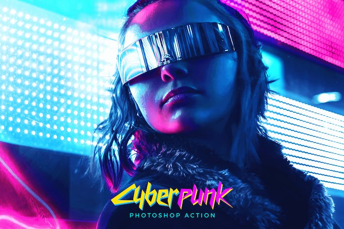 Thumbnail for CyberPunk Photoshop Action