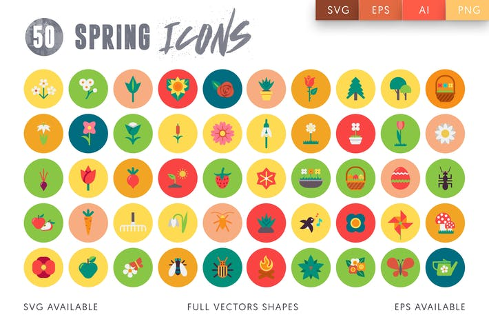 Thumbnail for 50 Spring Icons