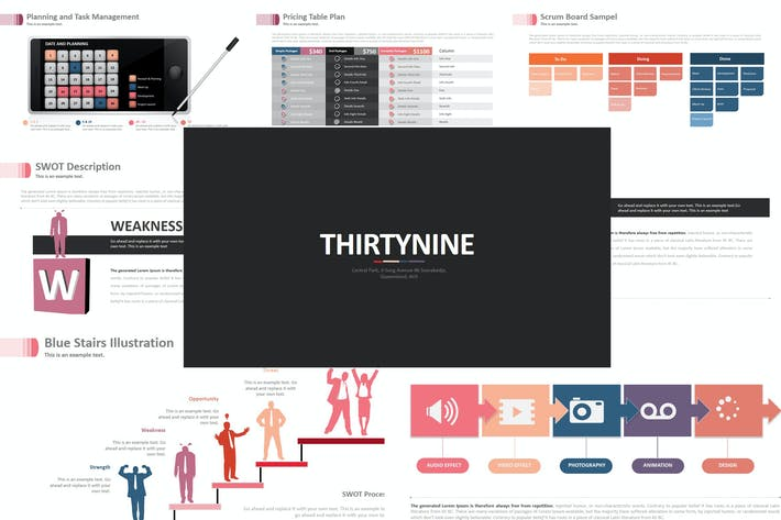 Thumbnail for Three Nine - Powerpoint Template