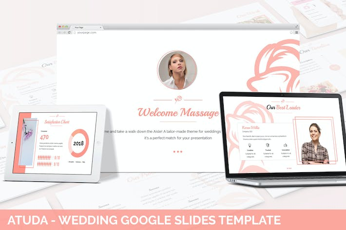 Thumbnail for Atuda - Wedding Google Slides Template
