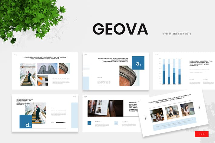 Thumbnail for Geova - Government Institution Powerpoint Template
