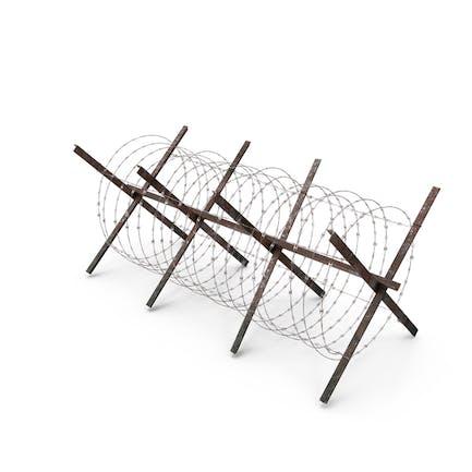 Concertina Razor Wire Coil Barrier Old