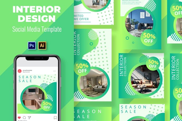 Interior Social Media Template - product preview 0